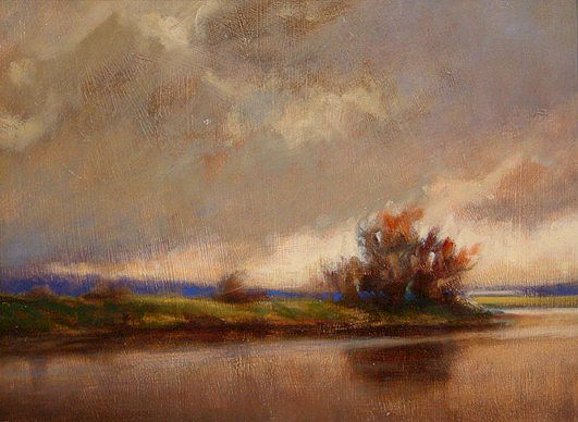 "SOLD ""Thunderhead"" 9 x 12 - oil $555 Framed"