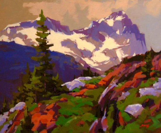 "SOLD ""A View in Yoho,"" by Mike Svob 20 x 24 - acrylic $2430 Framed"