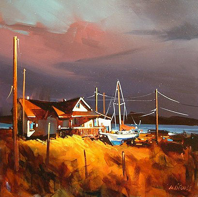 "SOLD ""West Dover, Nova Scotia"" 20 x 20 - acrylic $1120 Framed"