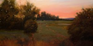 "SOLD ""Westward View, Maple Ridge"" by Renato Muccillo 15 x 30 - oil $2450 Framed ($2960 with custom show frame)"