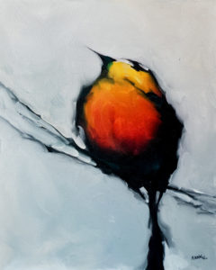 """SOLD """"What, Me Worry?"""" by Harold Braul 24 x 30 – oil $1340 (thick canvas wrap without frame)"""
