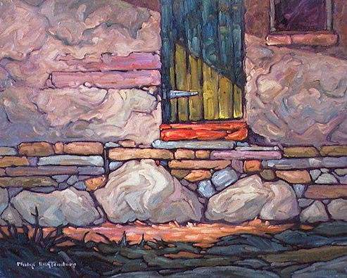 "SOLD ""Ajar"" A detail of pioneering craftsmanship 16 x 20 - oil $935 Framed"