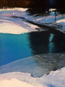 "SOLD ""Deep Blue,"" by David Lidbetter 9 x 12 - oil $1000 Unframed"