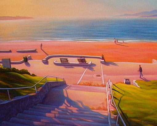 "SOLD ""High Tide at Third Beach, Stanley Park"" 24 x 30 - oil $1750 Framed"