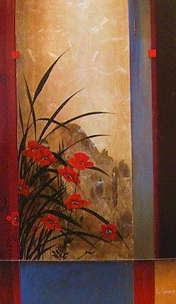 "SOLD ""Journey to Haung Shan"" 24 x 40 - acrylic $3300 Framed"