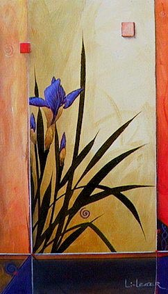 "SOLD ""Morning in Provence"" 12 x 20 - acrylic $1300 Framed"