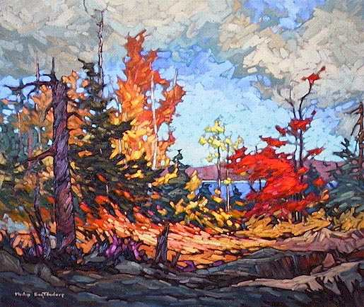 """SOLD """"September"""" Possibly deer were bedded on this area of flattened grass 20 x 24 - oil $1160 Framed"""