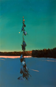 "SOLD ""Starlight,"" by David Lidbetter 24 x 36 – oil $3375 (thick canvas wrap)"
