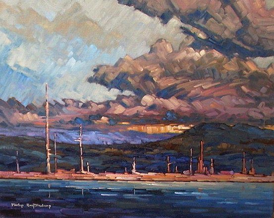 "SOLD ""Stave Lake Sentinels"" 16 x 20 - oil $935 Framed"