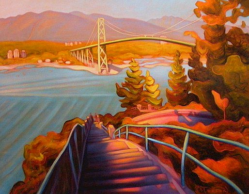 "SOLD ""Thanksgiving, Prospect Point"" (Vancouver) 14 x 18 - oil $925 Framed"