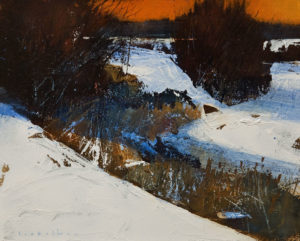 "SOLD ""Vermillion,"" by David Lidbetter 8 x 10 - oil $900 Unframed"