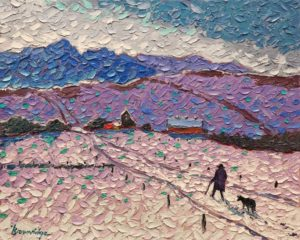 """Winter Walk,"" by Bill Brownridge 16 x 20 - oil $3120 Unframed"