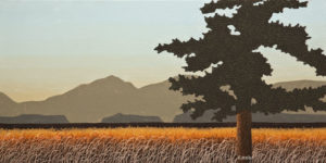 "SOLD ""After the Dawn,"" by Ken Kirkby 10 x 20 - oil $600 Unframed $770 in show frame"