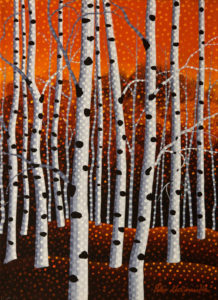 "SOLD ""Autumn Aspens No. 1,"" by Peter McConville 9 x 12 - acrylic $650 Unframed $820 in show frame"