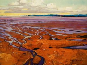 "SOLD ""Bay Afternoon, Bay of Fundy (New Brunswick),"" by Min Ma 9 x 12 - acrylic $980 Unframed $1240 in show frame"