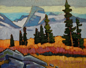 "SOLD ""Bear River Ridge,"" by Nicholas Bott 8 x 10 - oil $1040 Unframed $1280 in show frame"