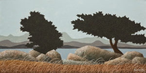 "SOLD ""California Arbutus,"" by Ken Kirkby 10 x 20 - oil $600 Unframed $770 in show frame"