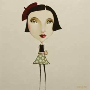 "SOLD ""The Pixie Series: Coco,"" by Danny McBride 12 x 12 - acrylic $600 (panel with 1 1/2"" edging) $775 in show frame"
