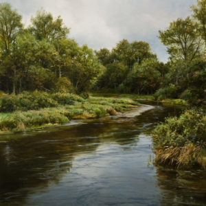 "SOLD ""Confluence in Late Summer,"" by Renato Muccillo 12 x 12 - oil $3060 in show frame"