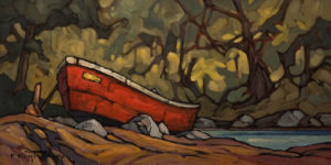 "SOLD ""Cozy Ashore,"" by Phil Buytendorp 8 x 16 - oil $800 Unframed $1050 in show frame"