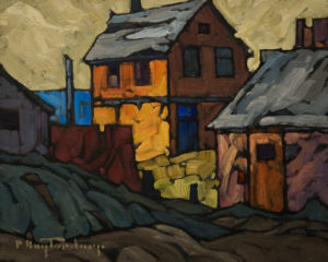 "SOLD ""Edge of Town,"" by Phil Buytendorp 8 x 10 - oil $570 Unframed $780 in show frame"