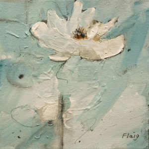 "SOLD ""Having a Little Fun,"" by Susan Flaig 8 x 8 - acrylic/graphite $385 Unframed $575 in show frame"