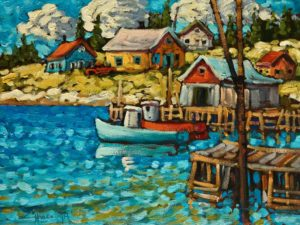 "SOLD ""Indian Harbour, Nova Scotia,"" by Rod Charlesworth 9 x 12 - oil $905 Unframed $1050 in show frame"