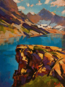 "SOLD ""Lake McArthur, Yoho,"" by Mike Svob 9 x 12 - acrylic $795 Unframed $1030 in show frame"