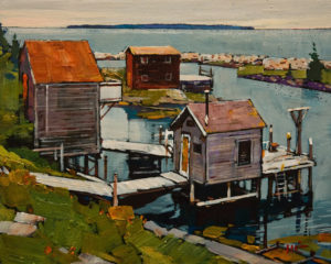"SOLD ""Low Season, Nova Scotia"" by Min Ma 8 x 10 - acrylic $770 Unframed $1030 in show frame"