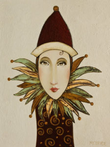 "SOLD ""The Pixie Series: Luna,"" by Danny McBride 9 x 12 - acrylic $500 (panel with 1 1/2"" edging) $675 in show frame"