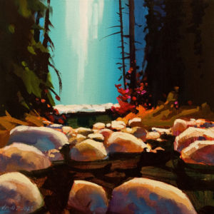 "SOLD ""Lynn Canyon All Quiet,"" by Michael O'Toole 12 x 12 - acrylic $910 Unframed $1120 in show frame"