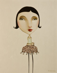 "SOLD ""The Pixie Series: Matilda,"" by Danny McBride 11 x 14 - acrylic $650 (panel with 1 1/2"" edging) $840 in show frame"