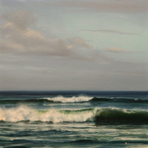 "SOLD ""Morning Tide,"" by Renato Muccillo 6 x 6 - oil $1400 in show frame"