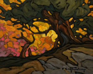 "SOLD ""October Medley,"" by Phil Buytendorp 8 x 10 - oil $570 Unframed $780 in show frame"