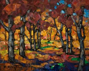 "SOLD ""Path Tapestry,"" by Phil Buytendorp 8 x 10 - oil $570 Unframed $780 in show frame"