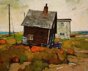"SOLD ""Still Standing, Nova Scotia,"" by Min Ma 8 x 10 - acrylic $770 Unframed $1030 in show frame"