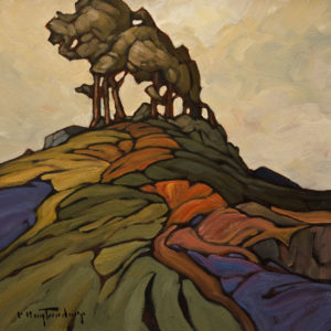 "SOLD ""Undulating Ridge,"" by Phil Buytendorp 10 x 10 - oil $645 Unframed $860 in show frame"