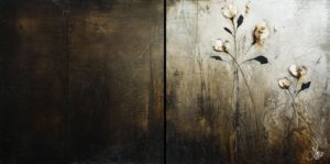 """The Best Kind of Moody,"" by Laura Harris diptych - 20 x 40 (overall size) - acrylic $3475 (thick canvas wrap)"