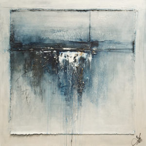 """Blue Becomes You,"" by Laura Harris 36 x 36 - acrylic $4750 (thick canvas wrap)"