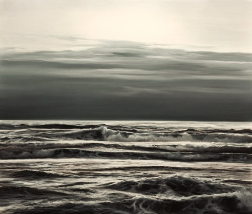 "SOLD ""Evening Swells,"" by Renato Muccillo 22 x 26 - oil $5500 in show frame"