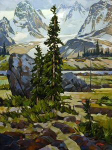 """High Country Lake,"" by Graeme Shaw 30 x 40 - oil $4350 in show frame $3700 Unframed"