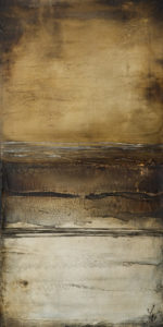 """Like Butterscotch and Linen,"" by Laura Harris 18 x 36 - acrylic $2650 as thick canvas wrap without frame"
