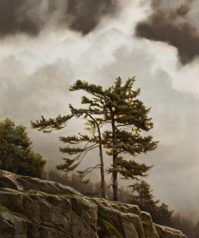 "SOLD ""Ridge Line,"" by Renato Muccillo 20 x 24 - oil $5100 in show frame"