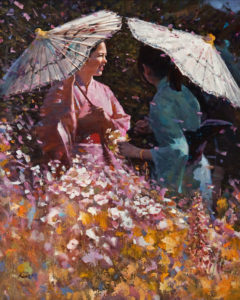 "SOLD ""Spring Day,"" by Clement Kwan 24 x 30 - oil $6500 Unframed"