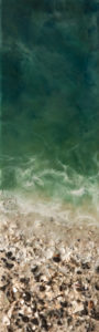 """""""West Coast No. 97,"""" by Brenda Walker 6 x 20 - encaustic and mixed media $495 (panel with 1 1/2"""" edges)"""