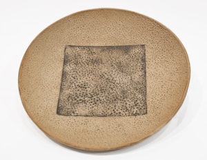 "Circle Square Bowl (LR-244) by Laurie Rolland hand-built ceramic - 12"" diameter x 1 1/2"" (H) $140"