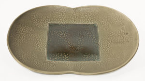 "Butterfly Tray (LR-249) by Laurie Rolland hand-built ceramic - 13"" (L) x 9 1/2"" (W) x 1 1/2"" (H) $90"