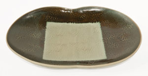 "Butterfly Tray (LR-250) by Laurie Rolland hand-built ceramic - 15 1/2"" (L) x 11"" (W) x 1 1/2"" (H) $130"