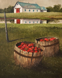 """Apples by the Stream"" by Mark Fletcher 8 x 10 - acrylic $550 Unframed"