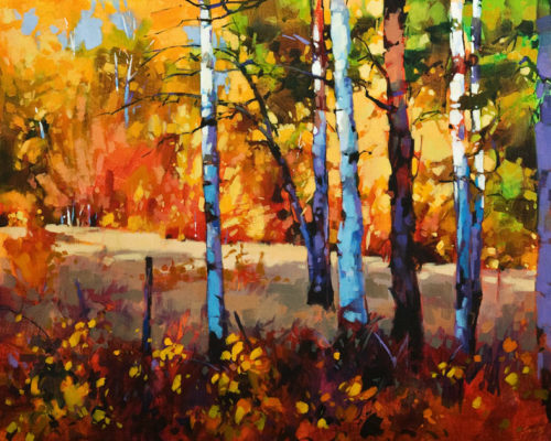 """Aspen Magic, Green Lake, B.C.,"" by Mike Svob 24 x 30 - acrylic $4560 Unframed"